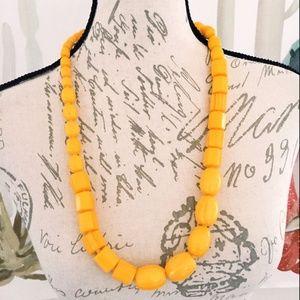 Jewelry - Yellow Beaded Statement Necklace Women's Chunky